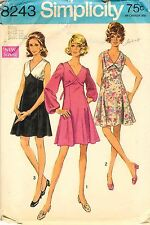 Vintage 1969 Simplicity # 8243 Sewing Pattern: Junior Petites And Misses' Dress