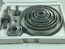 Hole Saw Kit 19 - 127mm 16pc Wood Round Cutting Cutter Set Kitchen Down Lights