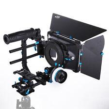 FOTGA PRO Matte Box+C Cage Top Handle+QR Follow Focus A/B Stop+15mm Rod DSLR Rig