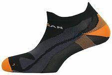 IronMan Pro Sleek Running Socks 07477 Black / Orange Sz L UK 8.5 -12, EU 43 - 46