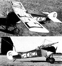 """Model Airplane Plans (RC): Sopwith Scooter Parasol Monoplane 51"""" Scale .20 2/3ch"""