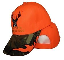 Hunters Will Do Anything For A Buck Orange & Camouflage Embroidered Cap Hat
