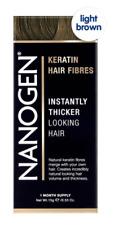 Nanogen Thickening Hair Fibres Light Brown 15g 1 months supply Natural Keratin