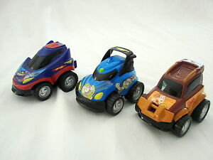Toy Story Silverlit Push Diecast Cars - Woody Zurg and Buzz Lightyear