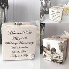 Personalised Wedding Anniversary Photo Cube Gift P609 1st/30th/40th/50th etc