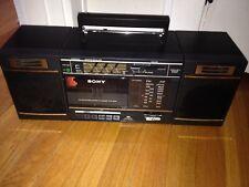 Vintage Sony CFS-3000 Transound AM FM Stereo Radio Cassette Recorder Boombox