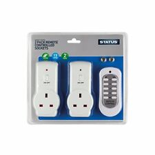 2 Status Wireless Remote Control Electric Socket Power Switch Home Mains UK Plug