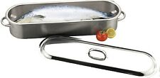 Sunnex Commercial Grade x Large Stainless Steel Fish Kettle FIsh Pot & Steamer
