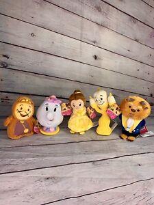 Disney Beauty & The Beast Beanie Plush Collectible 5 Piece Set