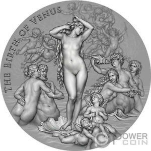 BIRTH OF VENUS Celestial Beauty 2 Oz Silver Coin 2000 Francs Cameroon 2021