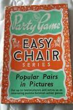 VINTAGE 1950'S PARTY GAMES EASY CHAIR SERIES POPULAR PAIRS IN PICTURES