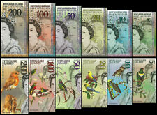 SET Pitcairn Islands, 5;10;20;50;100;200 Dollars, QEII, Fantasy 2019, Polymer