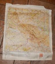 Vintage Soviet Russian USSR Confidential Administrative Index Europ Map 1960