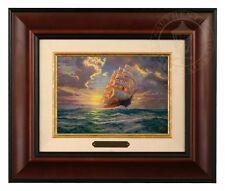 Thomas Kinkade Courageous Voyage 5 x 7 Framed Brushwork (Burl Frame)