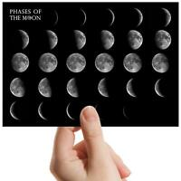 "Moon Phases Space Planet Small Photograph 6"" x 4"" Art Print Photo Gift #8145_02"