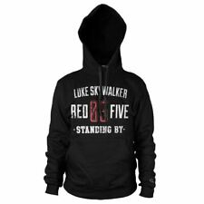 More details for star wars skywalker red 5 standing by hoodie sweater - unisex pullover jumper