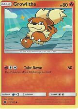 POKEMON SUN & MOON CARD: GROWLITHE - 21/149