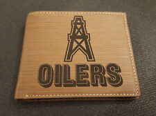 Houston Oilers NFL Wallet Laser Engraved