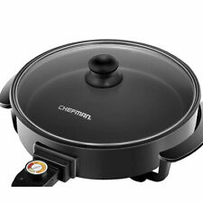 Chefman Electric Skillet 12 Inch Round Frying Pan with Non Stick Coating, Black