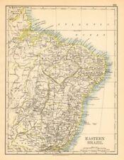 Eastern brésil. bahia minas gerais pernambuco marabhao. johnston 1897 old map