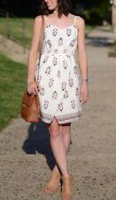 Jcrew Madewell Silk Sandstar Dress Vinefloral Indian Bright Ivory 8 f2130 $150