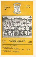 Watford v Hull City - Div 3 - 26/9/1961 - Football Programme
