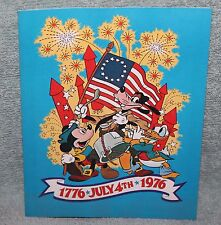 Rare Vintage Disney July 4th 1976 Sheet Music Song Sheet The Glorious Fourth