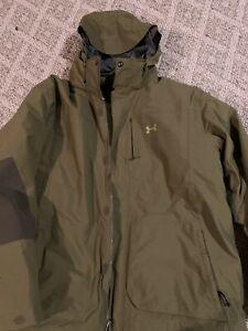 Mens Used Under Armour Waterproof Ski Jacket XXL