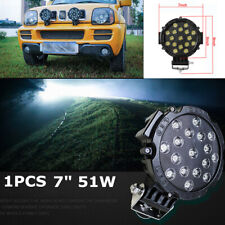 "1x 7"" 51W Round Off Road Led Spot Work Light For Jeep Truck Bumper Driving Black"