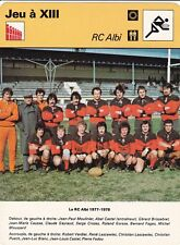 Rugby a xiii card sheet photo team rc albi 1977-1978