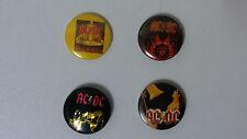 AC DC AC/DC music buttons vintage SMALL BUTTON set 2