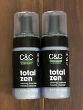 2 NEW C&C CLEAN & CLEAR TOTAL ZEN Calming Lavender Mousse Cleanser PUMP 3.4 OZ