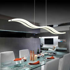 Modern LED Chandelier Pendant Lamp Water Wave S Ceiling Lighting Warm White Bed