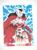 2018 MARVEL MASTERPIECES LADY SIF 1 of 1 SKETCH CARD! AJHAY CEREZO! THOR!