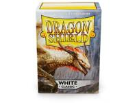 White Classic 100ct Dragon Shield Sleeves Standard Size FREE SHIPPING 10% OFF 2+