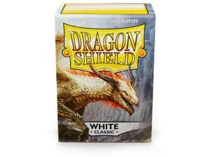 Classic White 100ct Dragon Shield Sleeves Standard Size FREE SHIPPING 10% OFF 2+