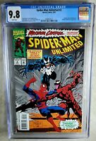 Spider-Man Unlimited #2 Carnage Venom Marvel 1993 CGC 9.8 NM/MT WP Comic M0088