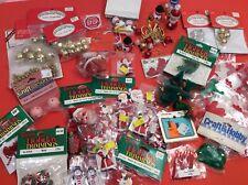 Large Lot of Christmas Craft Supplies - Santas - Bells - Ornaments - Craft Lot