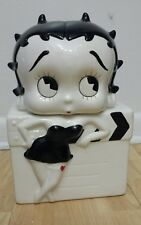 Rare Vintage Collectible Betty Boop Black & White Cookie Jar King Features