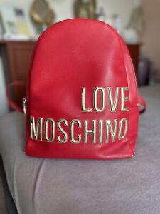 ❤️ Love Moschino Rucksack , Rot-gold