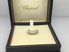 CHOPARD PLATINUM FULL DIAMOND WEDDING BAND RING 82/7338 NEW WITH BOX & PAPERS!!