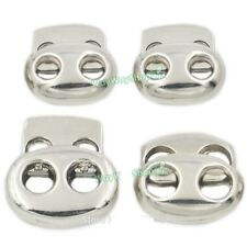 Metal Oval Bean Rope Cord Lock 2 Hole Plating Use Toggles Stopper Clothes Nickle