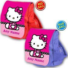 Bolso Escolar Hello Kitty Personalizado Niños Childrens gato Mochila Morral Vivero
