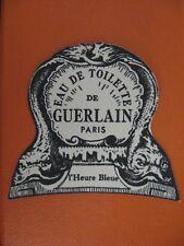 """GUERLAIN """" l' Heure Bleue  """" ETIQUETTE ANCIENNE Eau de toilette état bon"""