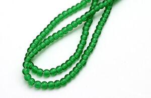 200 Emerald Czech Glass Round Beads 3MM