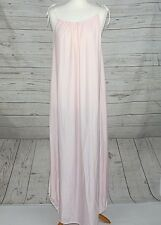 "Ladies Nighty Nightdress Sexy Baby pink Tie strap 44"" chest Romantic Nylon 3a20"