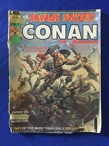 SAVAGE SWORD of CONAN #1 1974 FIRST ISSUE! RED SONJA STORY; JOHN BUSCEMA