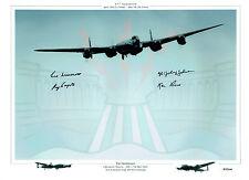 RARE Multi Signed Autograph 16x12 LANCASTER RAF Dambusters Photo AFTAL COA