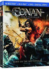 NEW BLU RAY 3D +2D  + DVD  - CONAN the BARBARIAN - JASON MOMOA , RON PERLMAN ,