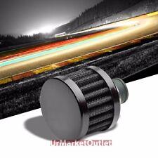 Black Universal 9MM Oil Crankcase Valve Vent Straight Round Air Filter/Breather
